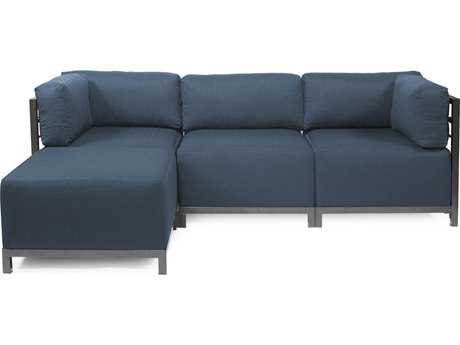 Howard Elliott Axis Sterling Indigo Four-Piece Sectional Sofa