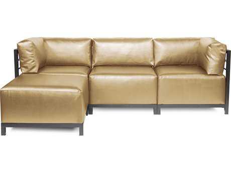 Howard Elliott Axis Shimmer Gold Four-Piece Sectional Sofa