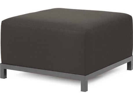 Howard Elliott Seascape Titanium Frame Charcoal Axis Ottoman