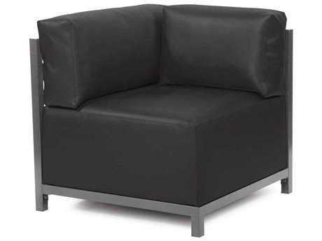 Howard Elliott Axis Atlantis Black Corner Chair - Titanium Frame