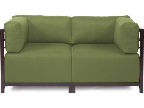 Howard Elliott Seascape Mahogany Moss Axis Two-Piece Sectional Sofa