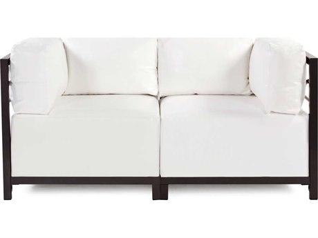 Howard Elliott Axis Atlantis White Two-Piece Sectional Sofa