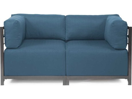 Howard Elliott Seascape Titanium Turquoise Axis Two-Piece Sectional Sofa