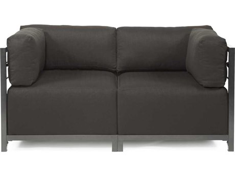 Howard Elliott Seascape Titanium Charcoal Axis Two-Piece Sectional Sofa