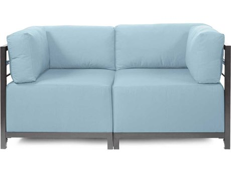 Howard Elliott Seascape Titanium Breeze Axis Two-Piece Sectional Sofa