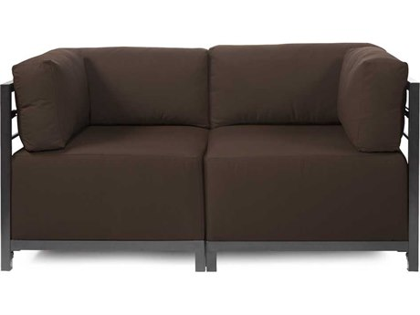Howard Elliott Seascape Titanium Chocolate Axis Two Piece Sectional Sofa