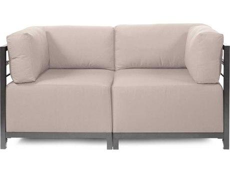 Howard Elliott Seascape Titanium Sand Axis Two Piece Sectional Sofa