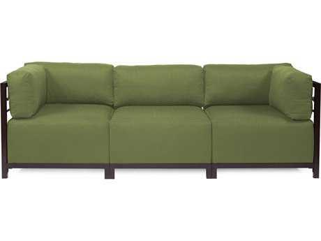 Howard Elliott Seascape Mahogany Moss Axis Three-Piece Sectional Sofa