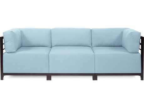 Howard Elliott Seascape Mahogany Breeze Axis Three-Piece Sectional Sofa