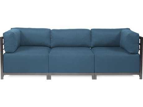 Howard Elliott Seascape Titanium Turquoise Axis Three-Piece Sectional Sofa