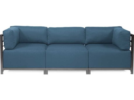 Howard Elliott Seascape Titanium Turquoise Axis Three-Piece Sectional Sofa