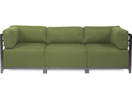 Howard Elliott Seascape Titanium Moss Axis Three-Piece Sectional Sofa