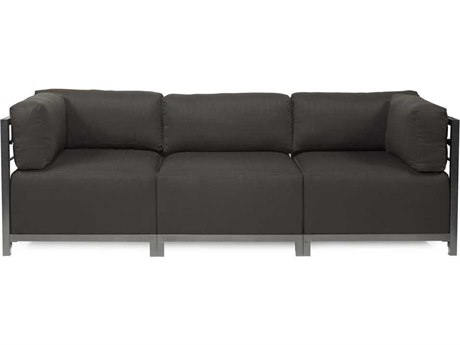 Howard Elliott Seascape Titanium Charcoal Axis Three-Piece Sectional Sofa