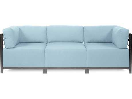 Howard Elliott Seascape Titanium Breeze Axis Three-Piece Sectional Sofa