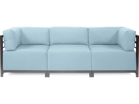 Howard Elliott Seascape Titanium Breeze Axis Three-Piece Sectional Sofa