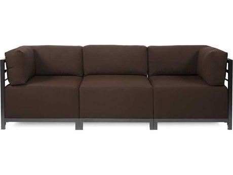 Howard Elliott Seascape Titanium Chocolate Axis Three-Piece Sectional Sofa