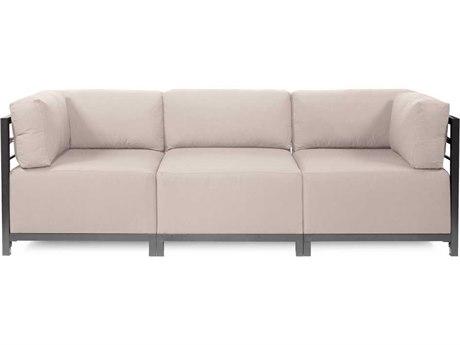 Howard Elliott Seascape Titanium Sand Axis Three-Piece Sectional Sofa