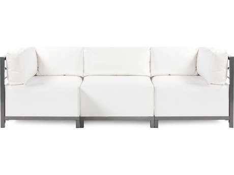 Howard Elliott Axis Atlantis White Three-Piece Sectional Sofa