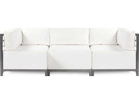 Howard Elliott Axis Atlantis White Three-Piece Sectional Sofa