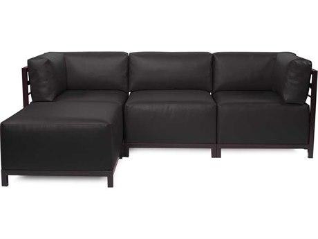 Howard Elliott Axis Atlantis Black Four-Piece Sectional Sofa