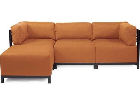 Howard Elliott Seascape Mahogany Canyon Axis Four-Piece Sectional Sofa
