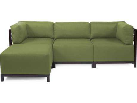 Howard Elliott Seascape Mahogany Moss Axis Four-Piece Sectional Sofa