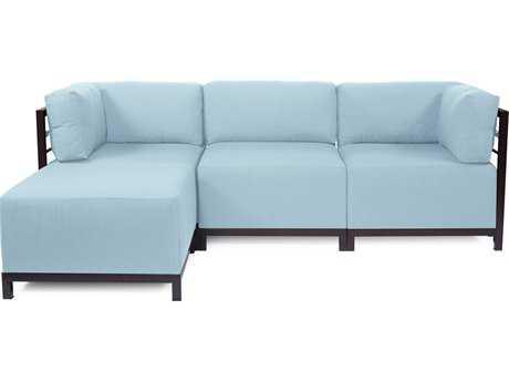 Howard Elliott Seascape Mahogany Breeze Axis Four-Piece Sectional Sofa