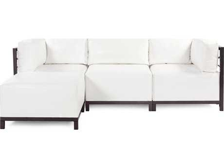 Howard Elliott Axis Atlantis White Four-Piece Sectional Sofa