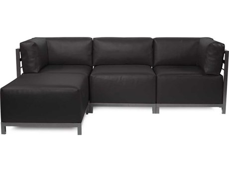 Howard Elliott Axis Atlantis Black Four-Piece Sectional Sofa