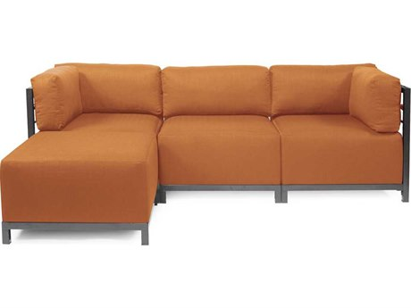 Howard Elliott Seascape Titanium Canyon Axis Four-Piece Sectional Sofa