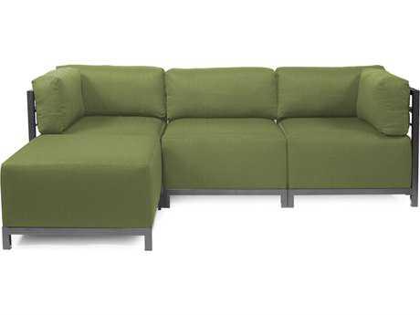 Howard Elliott Seascape Titanium Moss Axis Four-Piece Sectional Sofa