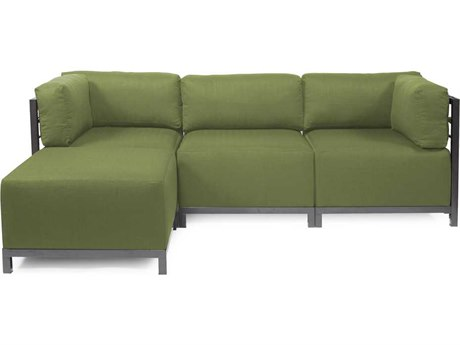 Howard Elliott Seascape Titanium Moss Axis Four-Piece Sectional Sofa