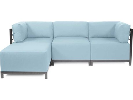 Howard Elliott Seascape Titanium Breeze Axis Four-Piece Sectional Sofa