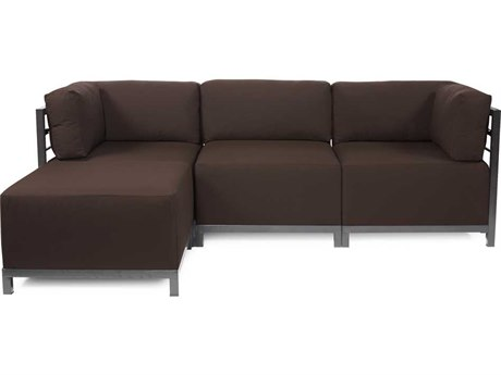 Howard Elliott Seascape Titanium Chocolate Axis Four-Piece Sectional Sofa