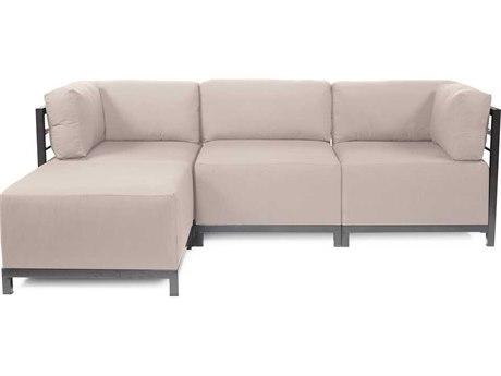 Howard Elliott Seascape Titanium Sand Axis Four-Piece Sectional Sofa