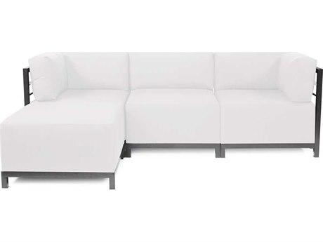 Howard Elliott Seascape Titanium Natural Axis Four-Piece Sectional Sofa