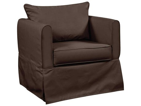 Howard Elliott Alexandria Seascape Chocolate Chair