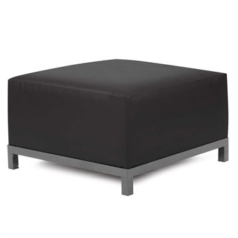 Howard Elliott Atlantis Black Axis Ottoman Slipcover
