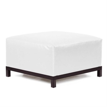 Howard Elliott Atlantis White Axis Ottoman Slipcover