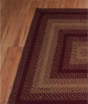 IHF Rugs Vintage Star Rectangular Red Area Rug