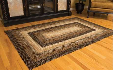 IHF Rugs Stallion Rectangular Brown & Black Area Rug