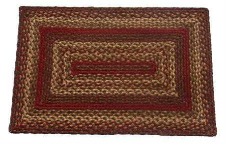 IHF Rugs Cinnamon Rectangular Red Area Rug