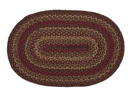 IHF Rugs Cinnamon Oval Red Area Rug