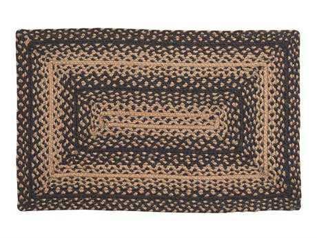 IHF Rugs Ebony Rectangular Black Area Rug