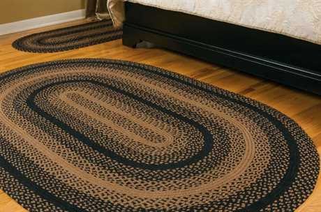 IHF Rugs Ebony Oval Black Area Rug