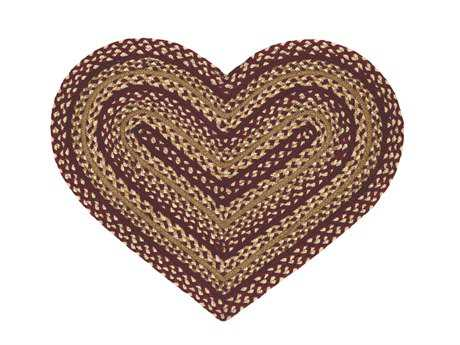 IHF Rugs Checkerberry Heart Red Area Rug