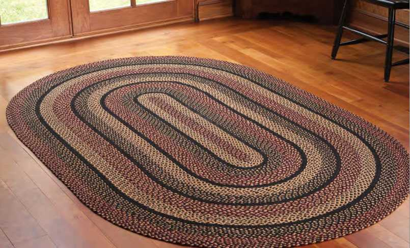 Ihf Rugs Blackberry Oval Black Area Rug Hfbr184ova