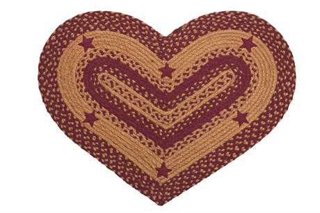 IHF Rugs Star Heart Wine Area Rug