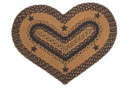 IHF Rugs Star Heart Black Area Rug