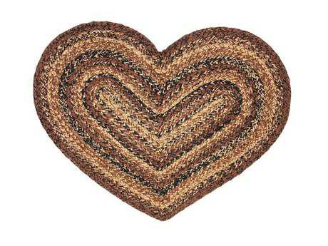 IHF Rugs Capuccino Heart Brown Area Rug